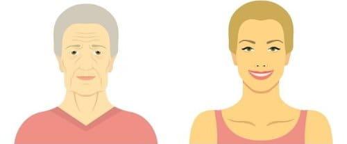 Самодельная золотая маска обменяет ваши ... лет на 35