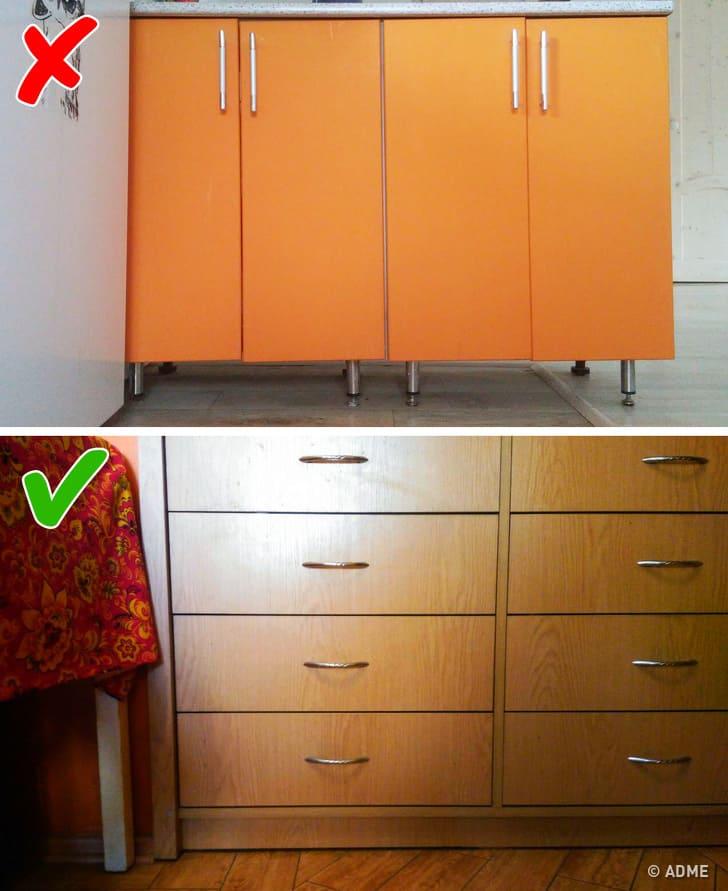 Мебель без цоколей