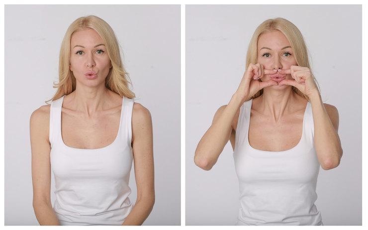 Упражнение«Уточка»(укрепление мышц губ)