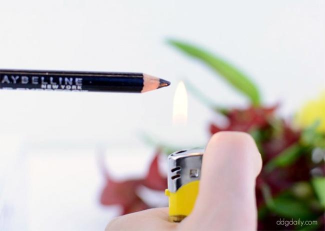 15секунд под зажигалкой сделает любой, даже самый старый идешевый карандаш супернасыщенным