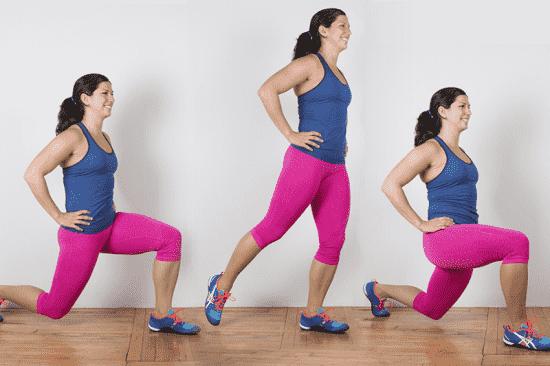 Делайте выпады, которые укрепляют мышцы ног