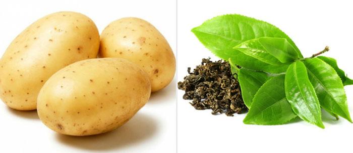 Картофель и зеленый чай