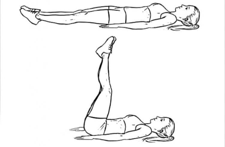 Подъем ног – упражнение для нижнего пресса