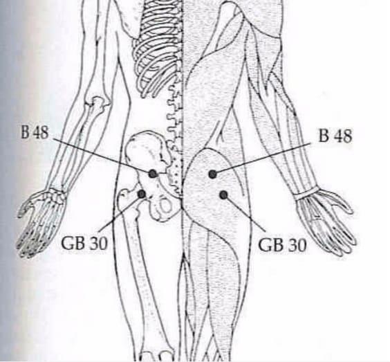 Нажмите на эти 2 точки и вы избавитесь от боли в пояснице, тазобедренном суставе, ногах и не только