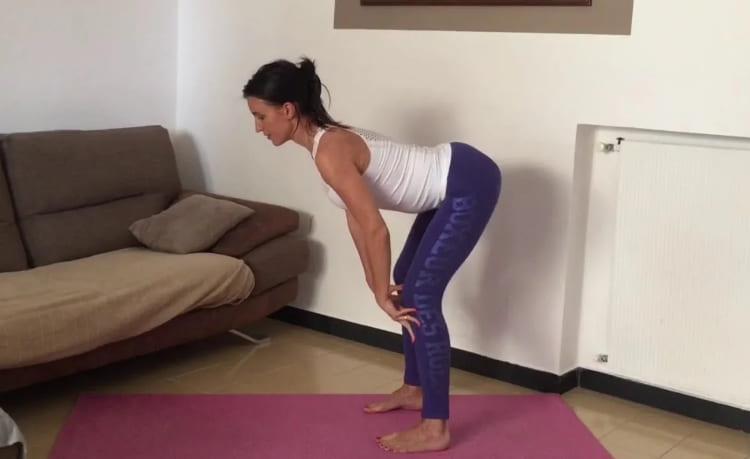 Упражнение «Один наклон». Убирает жировую подушку на животе и делает талию тонкой. До - 13 см. в талии