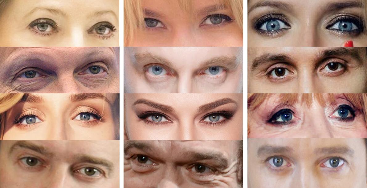 Можете ли вы определить российских знаменитостей только по их глазам