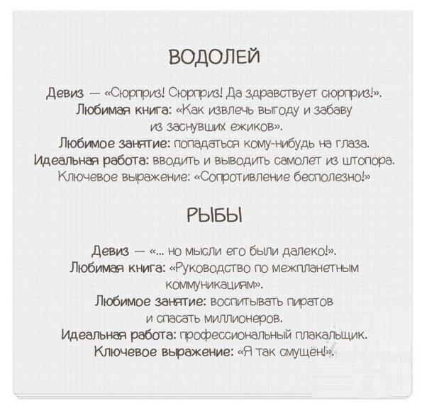 Яркие и смешные характеристики знаков Зодиака!