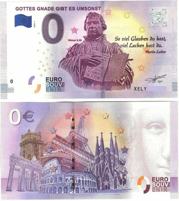 Зачем в Европе стали выпускать банкноты в ноль евро