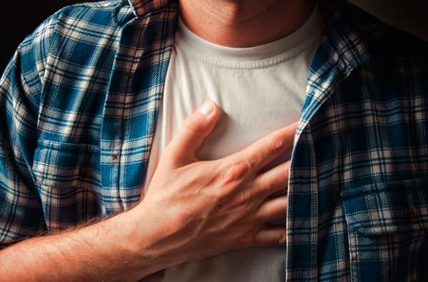 """Сердце и грудь: """"разбитое сердце"""""""